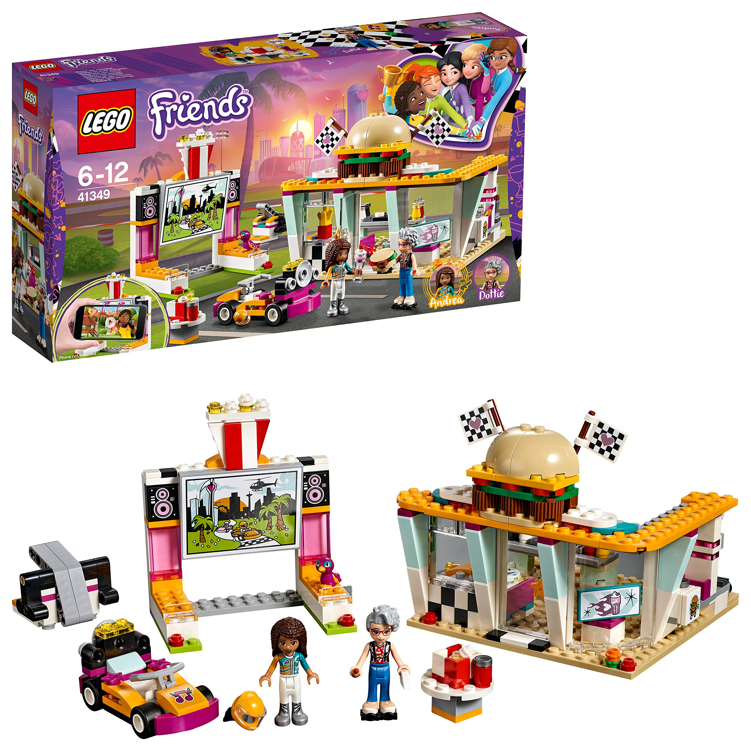 Lego 41349 Friends Heartlake Drifting Diner Playset Andrea And