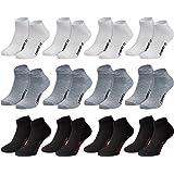 Calcetines para sneakers, para hombre, mujer y adolescentes, 8o 12pares en negro, blanco, gris o mezcla. Algodón con elasta