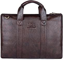 The Clownfish Leatherette Signature Series Tablet Bag/Netbook Messenger Bag Briefcase (Brown)