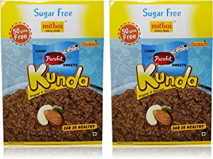 Camp Purohit Sweets Kunda Sugar Free, 360 gm (Pack of 2, Each Pack 180 GMS)