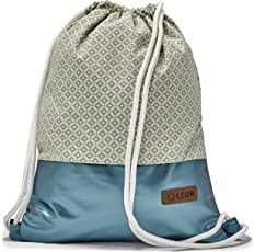 LEON by-Bers By-Bers LEON Tasche Turnbeutel Rucksack Sportbeutel Gym Bag Gymsack Hipster Fashion