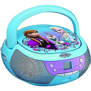 ekids fr 430 disney frozen cd player mit mikrofon f r kinder tragbar anna und elsa blau amazon. Black Bedroom Furniture Sets. Home Design Ideas