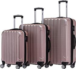 BEIBYE TSA Schloß, Zwillingsrollen, Dehnungsfuge, Hartschale Trolley Koffer Kofferset Reisekoffer Gepäckset