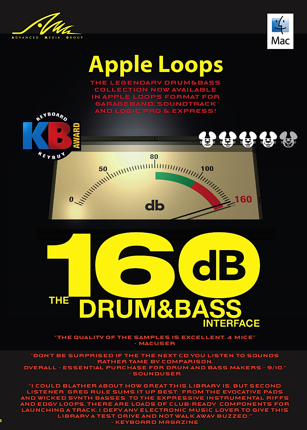 160dB: Das Drum & Bass Interface - Neue Apple Loops für GarageBand - DOWNLOAD [Download] Garageband Download