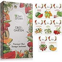 Obst Samen Set: Premium Garten Obst Saatgut mit 8 Sorten Obst Pflanzen für Garten und Balkon – Wassermelone Samen…