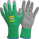 GRÜNTEK Lot de 5 paires de gants de jardinage en fibre de polyester avec revêtement en latex, pour un usage domestique et com