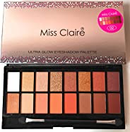Miss Claire Ultra Glow Eyeshadow Palette 2, Multi, 16 grams, Multicolor, 16 g