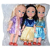 Vibgyor Vibes Small Baby Triplet Girl Sisters Long Hair Doll for Kids, Toddlers, Boys, Girls. Random Clothing Colours…