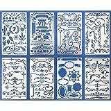 Aleks Melnyk #42 Pochoirs à Dessin/Planches de Pochoirs avec de Vintage Shabby Chic, Floral pour Loisirs Créatifs/Stencils Pe
