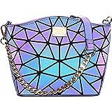 Hot One Cambios De Color Monederos y Bolsos Luminosos Geométricos Monedero Holográfico Monedero Reflectante Mochilas De Moda