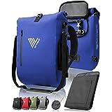 MIVELO - 3 in 1 Fahrradtasche - Rucksack - Schultertasche wasserdicht 100% PVC frei, mit Laptopfach und Schloss, für Fahrrad