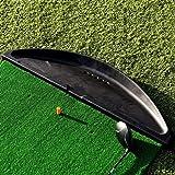FORB Gummi Golfball Schale (schwarz) (107cm x 28cm x 8.5cm) – hält Dutzende Golfbälle für das Üben auf der Driving Range oder im Garten [Net World Sports]