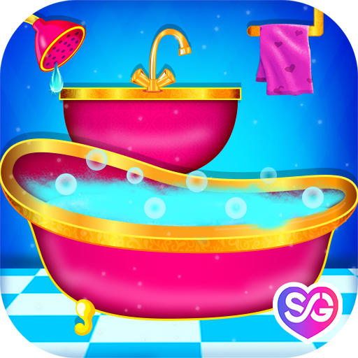 Princess Bathroom Decor : Cleaning Time -