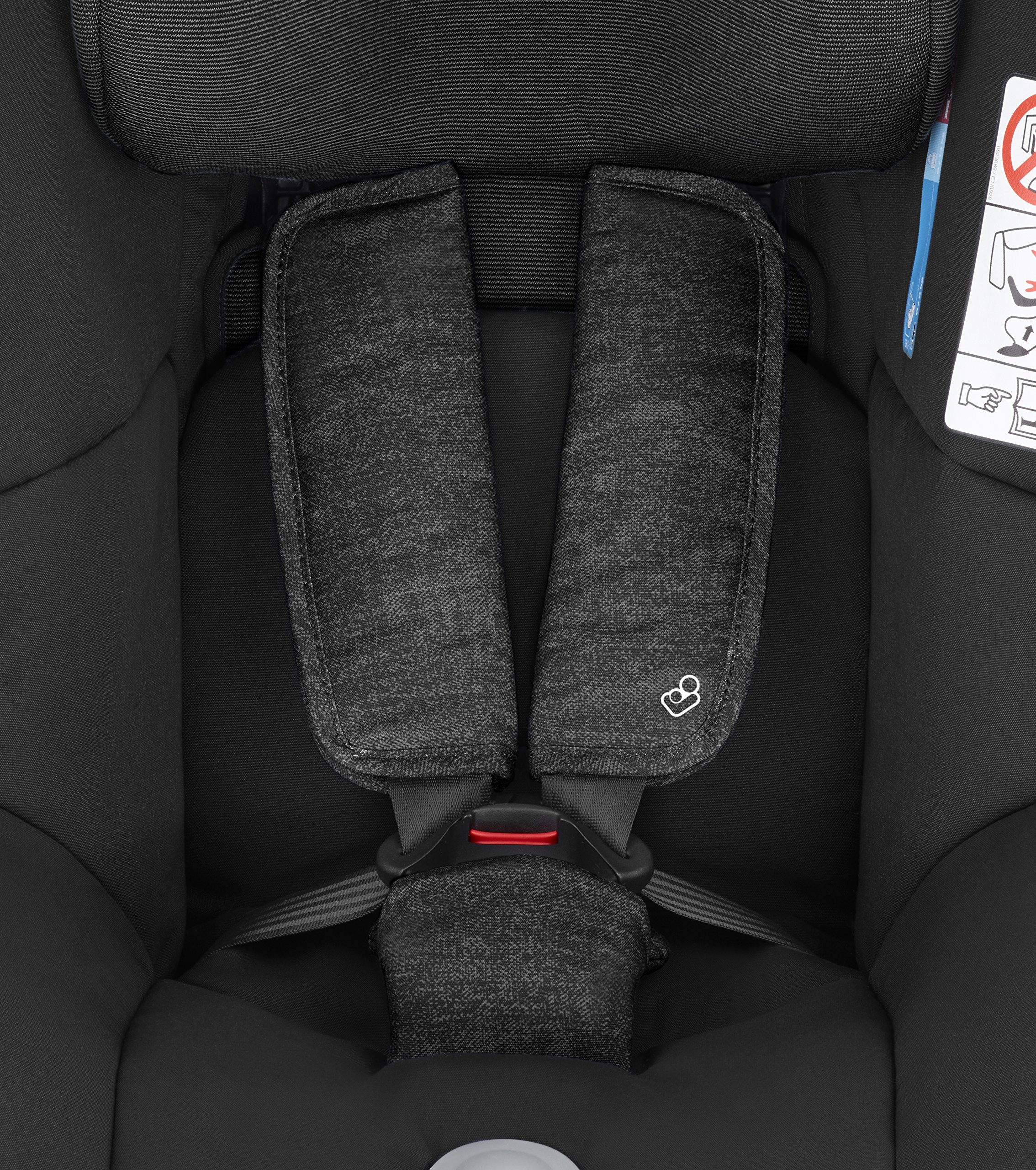 Maxi-Cosi MiloFix ISOFIX Combination Car Seat, Group 0+/1 car seat, Rear and Forward-facing, 0-4 years, 0-18 kg, Nomad Black Maxi-Cosi Rear and forward facing group 0+/1 car seat, suitable from birth to 18 kg (birth to 4 years) i-Size car seat, extended rearward-facing travel up until 18 months Padded seat and angled base provide additional leg room in rear-facing position 7