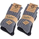 BRUBAKER 4 paia di calzini caldi e morbidi , in lana Alpaca miscelazione dei colori EU 35-38 / IT 33-35