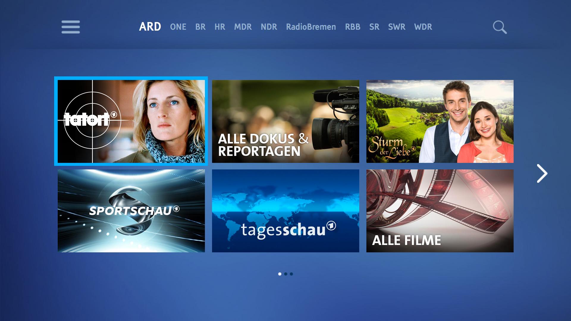 ARD für TV Screenshot
