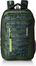 American Tourister Polyester 28 Ltrs Olive Laptop Backpack (AMT TECH GEAR LAPTOP BP 03-OLV)