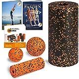 Blackroll Orange (Das Original) Starter Set mit 2x Faszien-Rolle & 2x Massageball, inkl. Booklet, eBooks und App