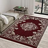 "Vram 6D Dot Designer Superfine Exclusive Velvet Carpet Rug - 60"" inch x 84"" inch   150 cm x 210 cm   5 Feet x 7 Feet   - Maro"