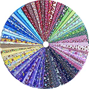 Assorted Baumwolle Stoffreste Colorful Patchwork Stoffe Stoffpaket Bundle