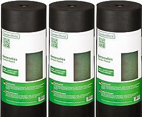 GardenMate 150g/m² Premium Gartenvlies - Unkrautvlies Extrem Reißfestes Unkrautschutzvlies - Hohe UV-Stabilisierung - Wasserdurchlässig