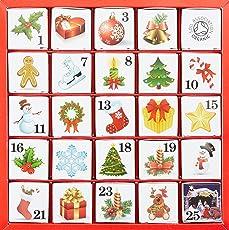 English Tea Shop - Tee Adventskalender Christmas Ornaments, 25 einzelne Boxen mit würzigen BIO-Tees in hochwertigen Pyramiden-Teebeutel
