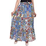 COTTON BREEZE Women Maxi Skirt (FP625_Multicolored_Free Size)