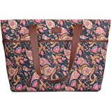 ZOUK Tote Bags for Women - Handmade Bags for Daily Use - Vegan Leather Handbags with Double Handle - Printed Totes for Women