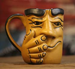 Weird Wolf Joy hand-crafted large coffee mug (350 ml) for gifting