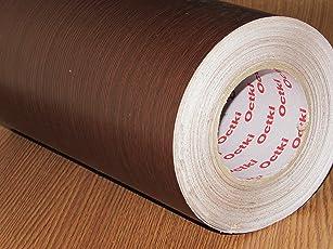 CVANU Self Adhesive Wood Grain Wallpaper Waterproof Old Furniture Vinyl Stickers Wooden Door Wardrobe Desktop PVC Wall Papers Cv106 12''x50''inch