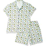 Clovia Women's Casual Regular Pajama Set (LS0094D033XL_Blue_3XL)