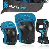 SKATEWIZ Protect-1 Protecciones Patines Adulto - Protecciones Patines niña - Rodilleras Skate Adulto Patinaje