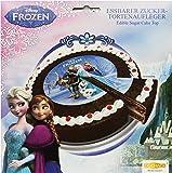Decocino Zucker-Tortenaufleger Disney Frozen HOCHWERTIGER Tortenaufleger Eiskönigin von DEKOBACK   Tortenaufleger Elsa   1er Pack (1 x 13 g)   Durchmesser: 16 cm