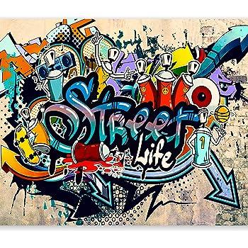 Papier peint du style de rue d coration de peinture murale de graffiti style de photo pop art - Lettre graffiti modele ...