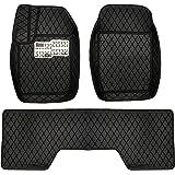 al Baroon Car Floor Mat 3Pcs With Diamond Black/Black