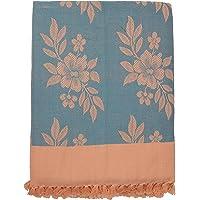 Saagar Tex 200 TC Pure Cotton Single Bedsheet - Light Blue