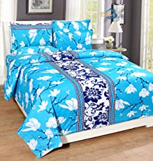 HOME ELITE Premium Cotton Beautiful Double Size Bedsheet with 2 Pillow Covers