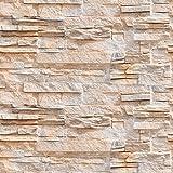 murando - Fototapete selbstklebend 10m 3D Tapete Wandtattoo dekorative Möbelfolie Dekorfolie Fotofolie Wandaufkleber Wandposter Wandsticker - Steinoptik Steinwand f-B-0216-an-a
