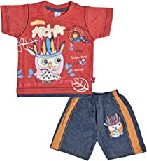 Little Hub Cotton Summer Clothes Short Sleeve Round Neck T-Shirt and Pant