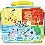 Pokémon Bolsa De Almuerzo, Bolso Para El Almuerzo Azul Para Niños Adolescentes Con Pikachu, Squirtle, Bulbasaur Y Charmender,