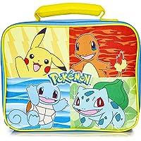 Pokemon Lunch Box avec Pikachu Bulbizarre, Salamèche et Carapuce | Sac Isotherme Repas Déjeuner Portable | Sac Isotherme…