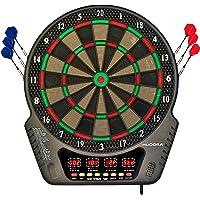HUDORA Unisex Erwachsene Elektronik-dartboard Led 04 Darts, bunt, für max. 16 Spieler EU