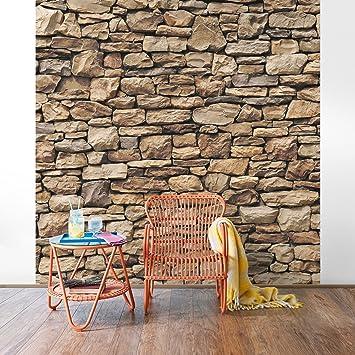 fototapete | steintapete amerikanische steinwand - vliestapete ... - Fototapete Wohnzimmer Braun
