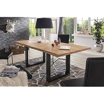 Holzwerk Esstisch Wildeiche Massivholztisch Tisch Baumkante Eiche
