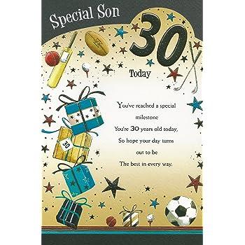 Special Son 30th Happy Birthday Card