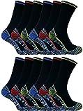Sock Snob 3, 6, 12 paires homme coton bambou anti transpiration respirant chaussettes de travail avec renforcees bottes de sécurité