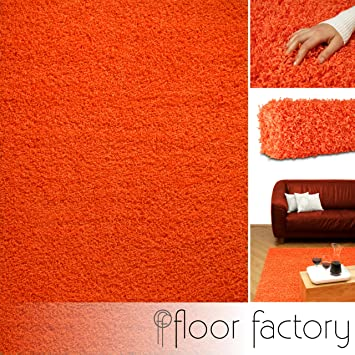 Tappeto shaggy pelo lungo Candy arancio 120x170 cm - tappeto ...