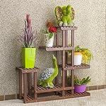 Sharpex Multi-Layer Wooden Plant Stand (Brown)