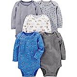 Simple Joys by Carter's Mixte Bébé Body Manches Longues En Coton, Lot de 5
