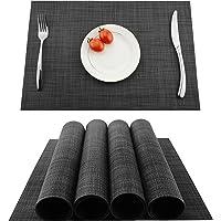 KoKaKo Lot de 4 sets de table en PVC, antidérapants et lavables, résistants à la chaleur et aux salissures, Fibres…
